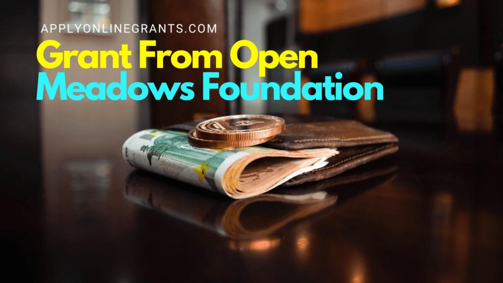 Open Meadows Foundation Grant