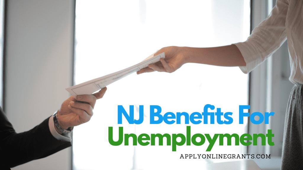 NJ Unemployment Benefits